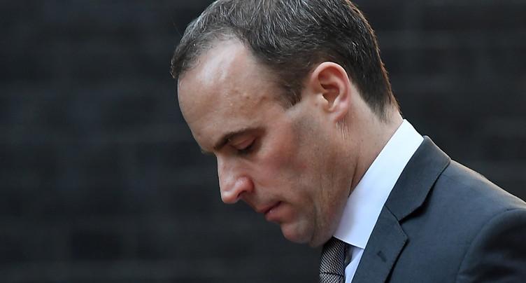 Démission du ministre britannique du Brexit Dominic Raab