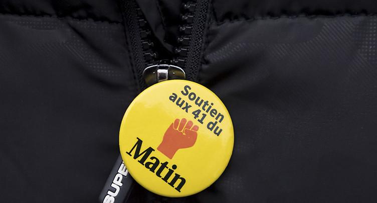 Les ex-employés du Matin se mobilisent à Lausanne