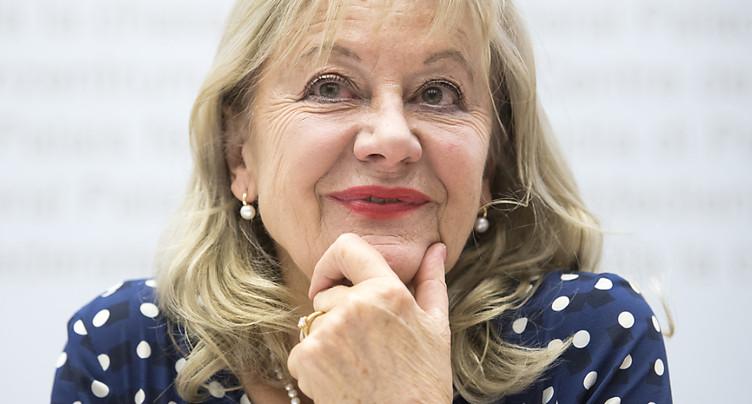 Susanne Leutenegger Oberholzer (PS) se retire le 7 décembre