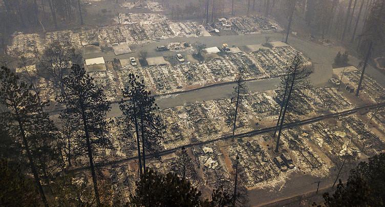 Incendies en Californie: le « Camp Fire » a fait au moins 71 morts
