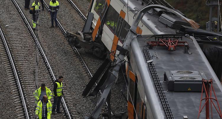 Un train déraille près de Barcelone, un mort, six blessés