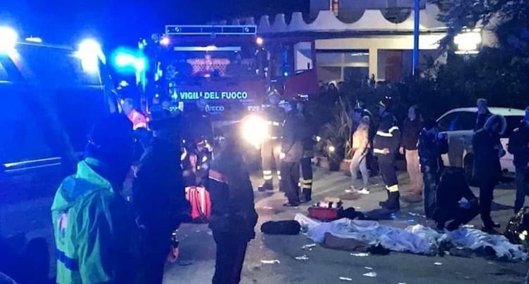 Mouvement de panique dans une discothèque en Italie: 6 morts