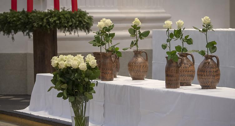 Hommage aux sept victimes de l'incendie de Soleure