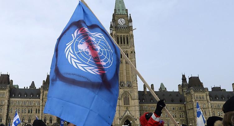 Manif tendue à Ottawa contre le pacte de l'ONU sur les migrations