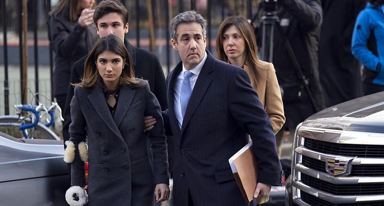 L'ex-avocat de Trump, Michael Cohen, condamné à trois ans de prison