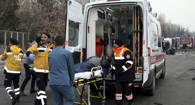 Un accident de train à Ankara fait quatre morts et, 43 blessés
