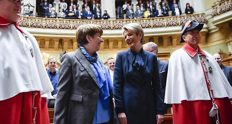 Valais et St-Gall fêtent leurs nouvelles conseillères fédérales