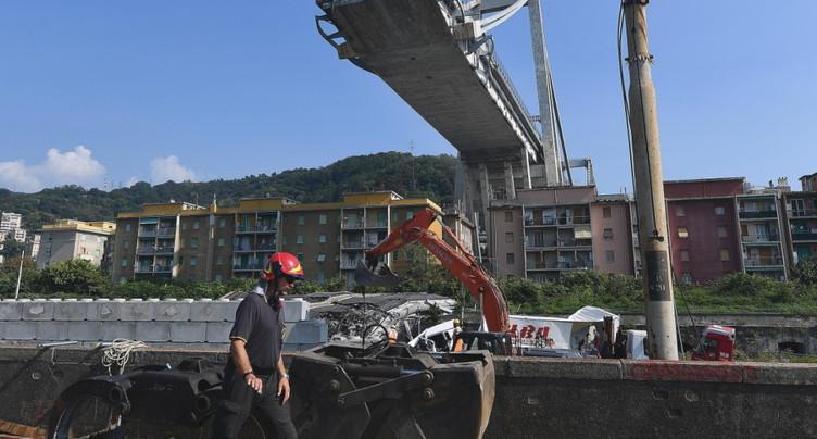 Pont de Gênes: rapport sévère des experts de la Confédération