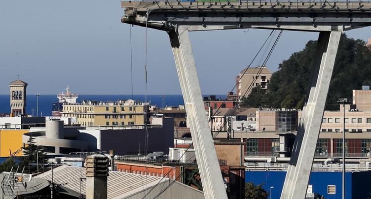 Gênes aura un nouveau pont à Noël 2019 promet le maire