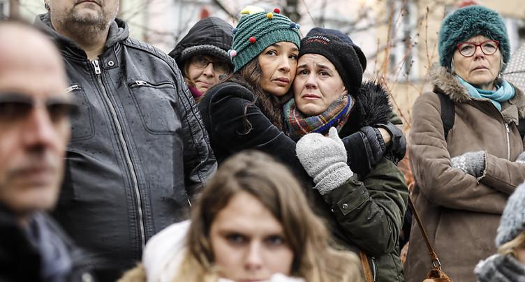 Des centaines de personnes réunies à Strasbourg en hommage aux victimes