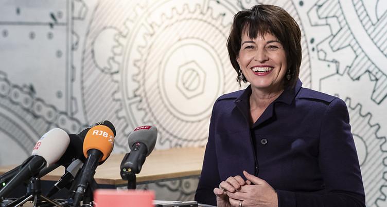 Doris Leuthard prend congé de la Berne fédérale
