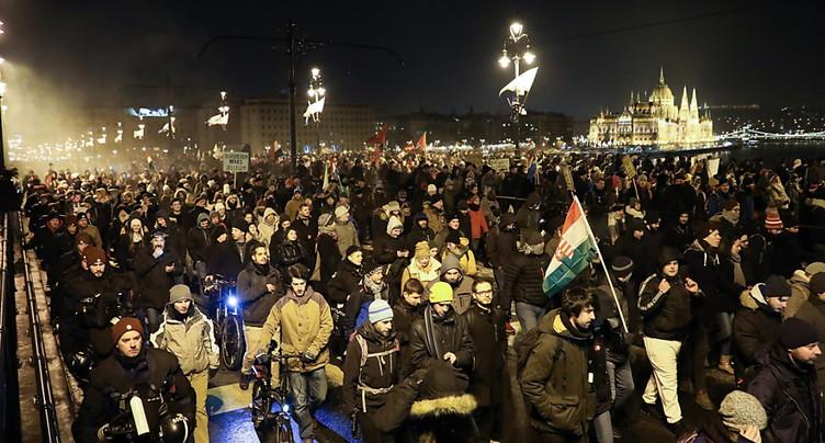 Une 6e journée de grogne anti-Orban à Budapest