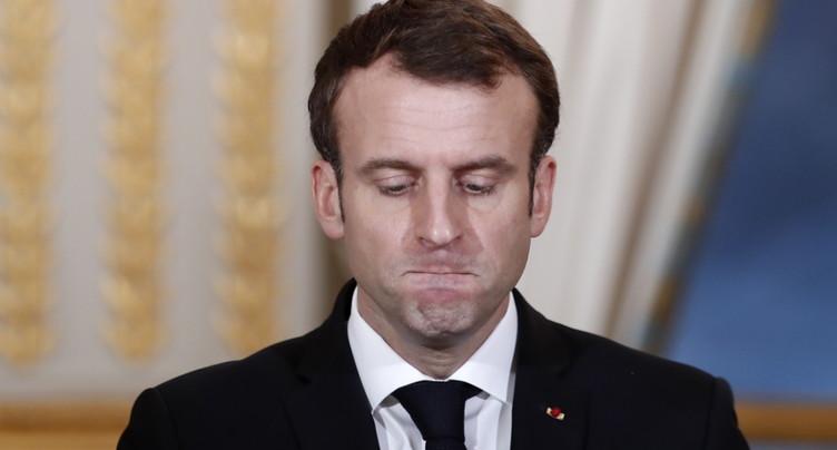 La popularité du président français Emmanuel Macron est au plus bas