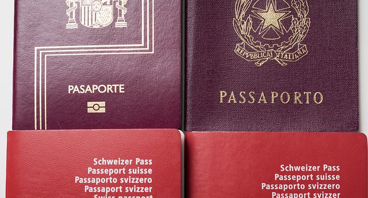 Un Suisse sur quatre a plusieurs nationalités