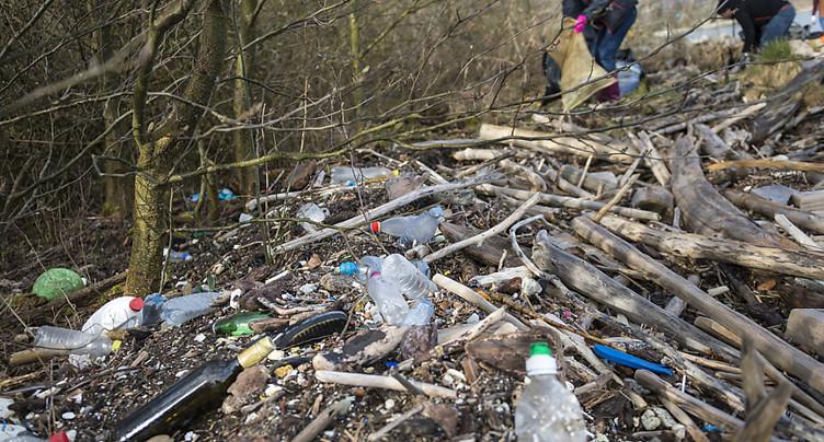 Chaque année, 50 tonnes de plastique se retrouvent dans le Léman