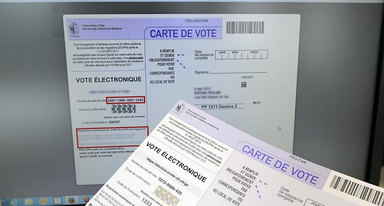 Le Conseil fédéral veut faire de l'e-voting le 3e canal de vote