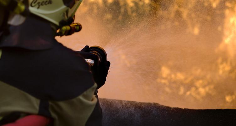 Incendie dans le garage des cars postaux à Coire