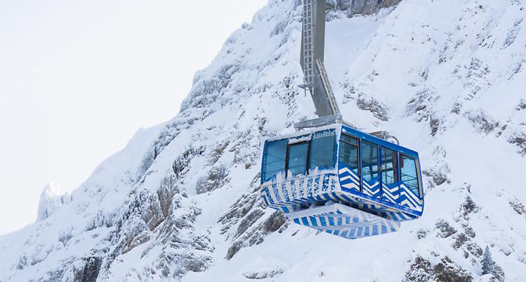 Une nouvelle avalanche a endommagé le téléphérique du Säntis