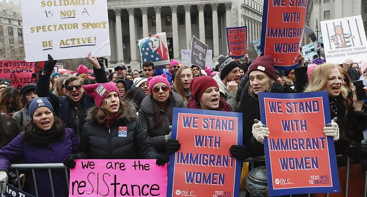 Milliers de manifestants aux Etats-Unis pour le droit des femmes