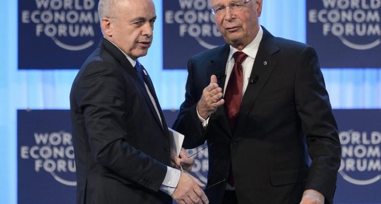 Ueli Maurer et Jair Bolsonaro en ouverture du Forum de Davos