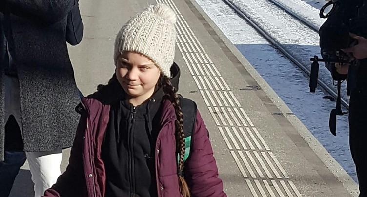 La militante suédoise Greta Thunberg est arrivée à Davos