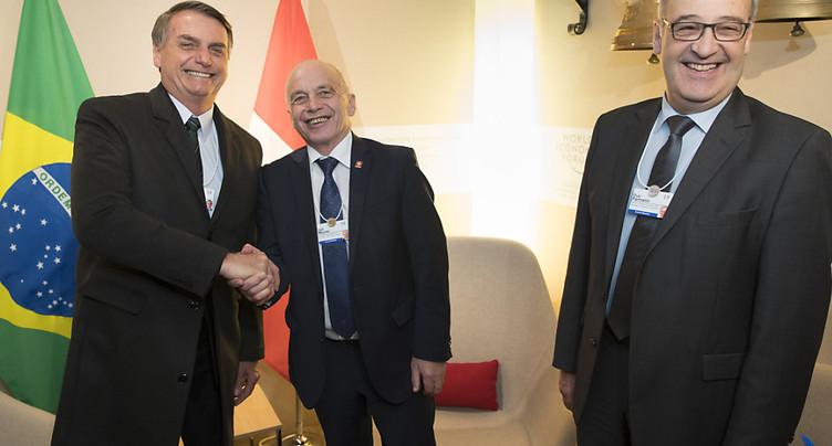 Ueli Maurer parle de libre échange avec le Brésilien Bolsonaro