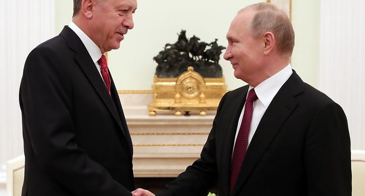 Erdogan à Moscou pour discuter de la Syrie avec Poutine