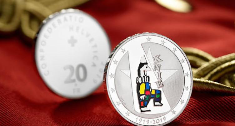 Le centenaire du Cirque Knie célébré par une pièce de monnaie