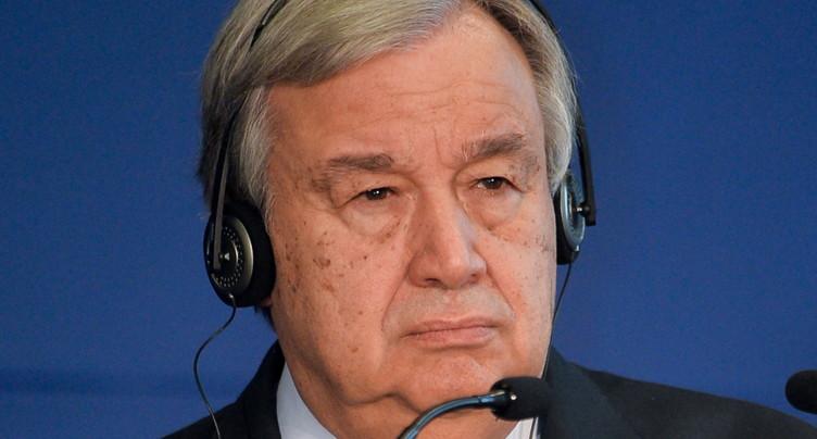 Climat: « nous sommes en train de perdre la course », selon Guterres
