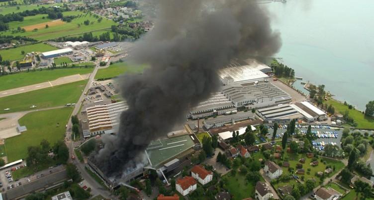 Le fabricant de trains Stadler Rail victime d'un incendie