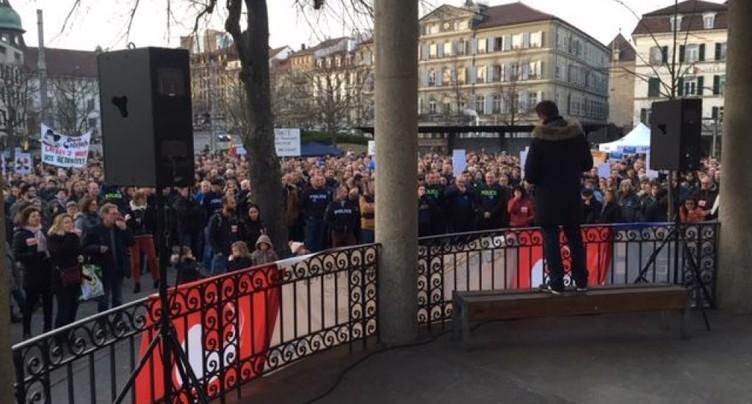 Personnel de l'Etat de Fribourg contre la réforme des pensions