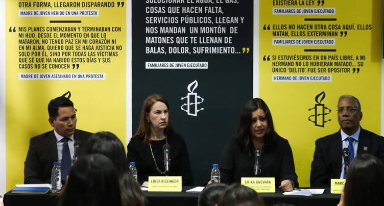 Amnesty dénonce le régime répressif de Maduro