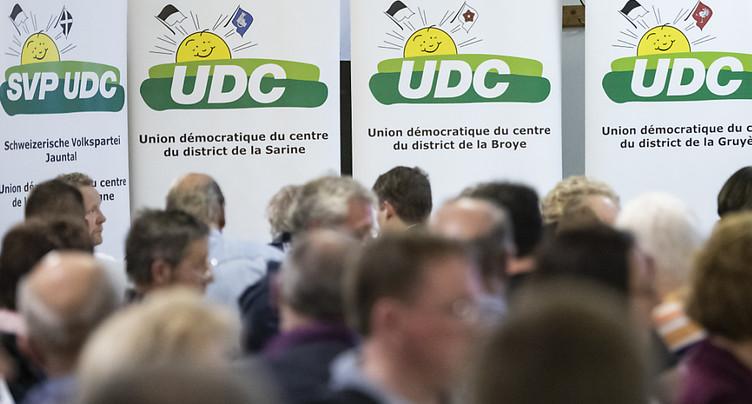 Fribourg: Rime et Page en locomotives UDC pour les fédérales