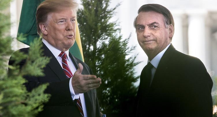 Trump et Bolsonaro affichent leur complicité à la Maison Blanche