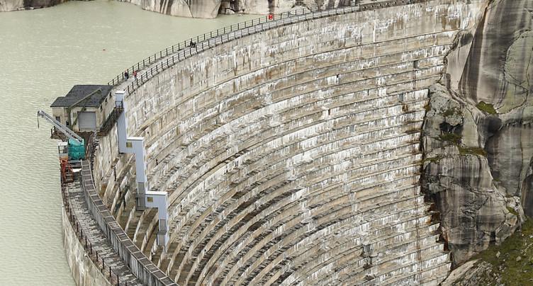 Implenia remporte un contrat pour le barrage sur le lac de Grimsel
