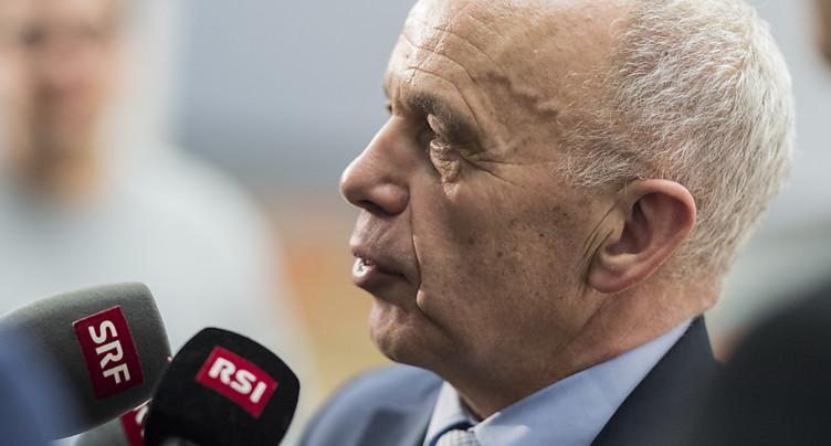 Le président de la Confédération Ueli Maurer critique les médias