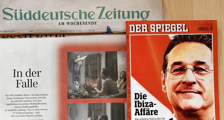 L'extrême-droite autrichienne dans la tourmente: son chef compromis par une caméra cachée