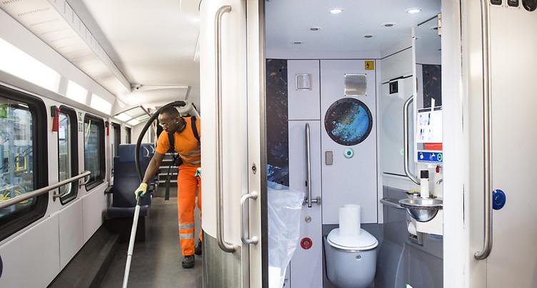 La propreté s'améliore dans les trains et les bus régionaux
