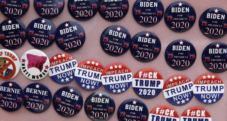 Trump derrière Biden et quatre autres démocrates dans un sondage