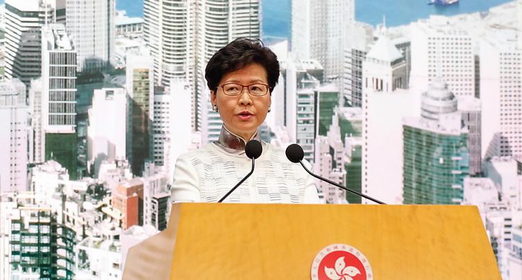 Pékin réaffirme son soutien à la dirigeante de Hong Kong