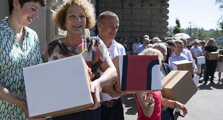 L'initiative correctrice déposée avec plus de 134'000 signatures