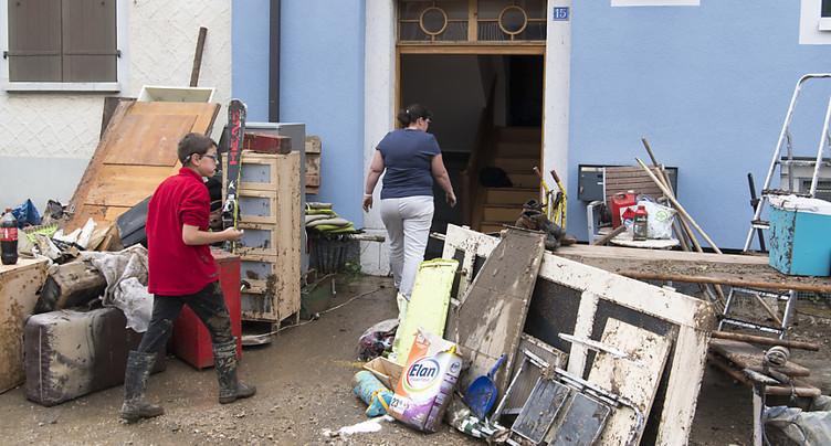 Inondations à Val-de-Ruz (NE): recours à l'armée envisagé