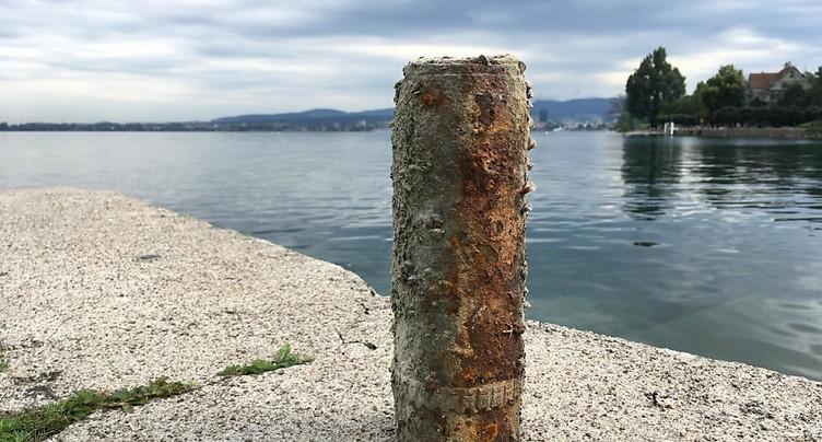Obus de la Première Guerre mondiale dans le lac de Zoug