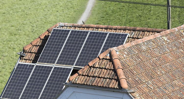 La part de l'énergie solaire suisse augmente à un faible niveau