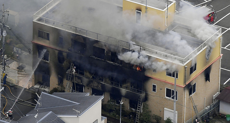 Incendie d'un studio d'animation au Japon: 13 morts