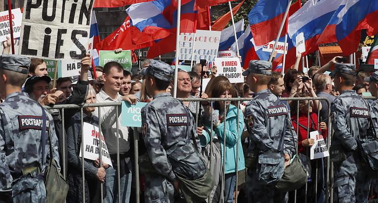 Plus de 20'000 manifestants à Moscou pour des élections libres