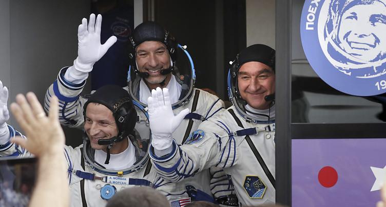 50 ans après Apollo 11, trois astronautes atteignent l'ISS