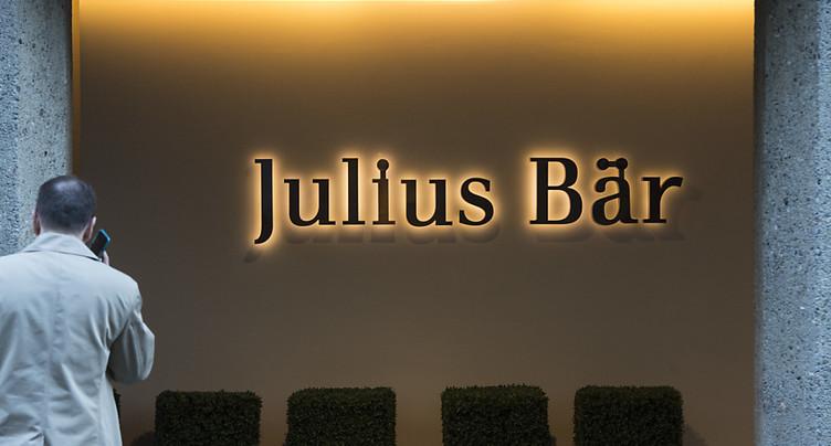 Julius Bär en repli à tous les niveaux au 1er semestre