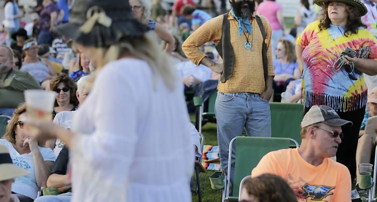 Cinquante ans après, les hippies reviennent à Woodstock