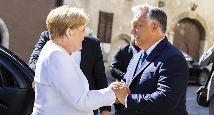 Angela Merkel et Viktor Orban réunis à Sopron